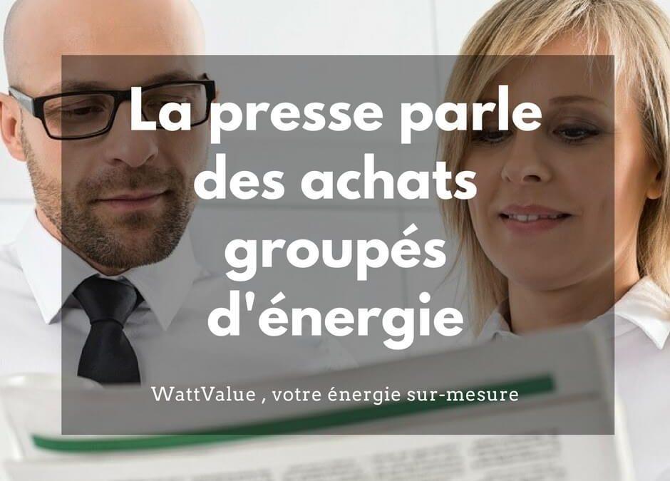 La presse parle des achats groupés de gaz et d'électricité
