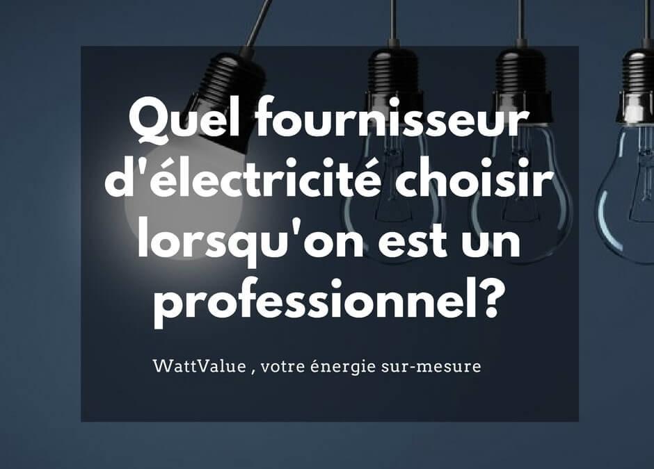 Quel fournisseur d'électricité choisir ?