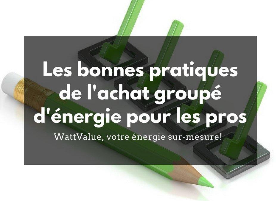 Les bonnes pratiques de l'achat groupé d'énergie pour les pros