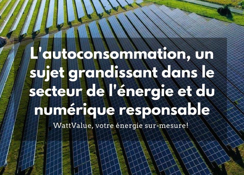 L'autoconsommation, un sujet grandissant dans le secteur de l'énergie et du numérique responsable