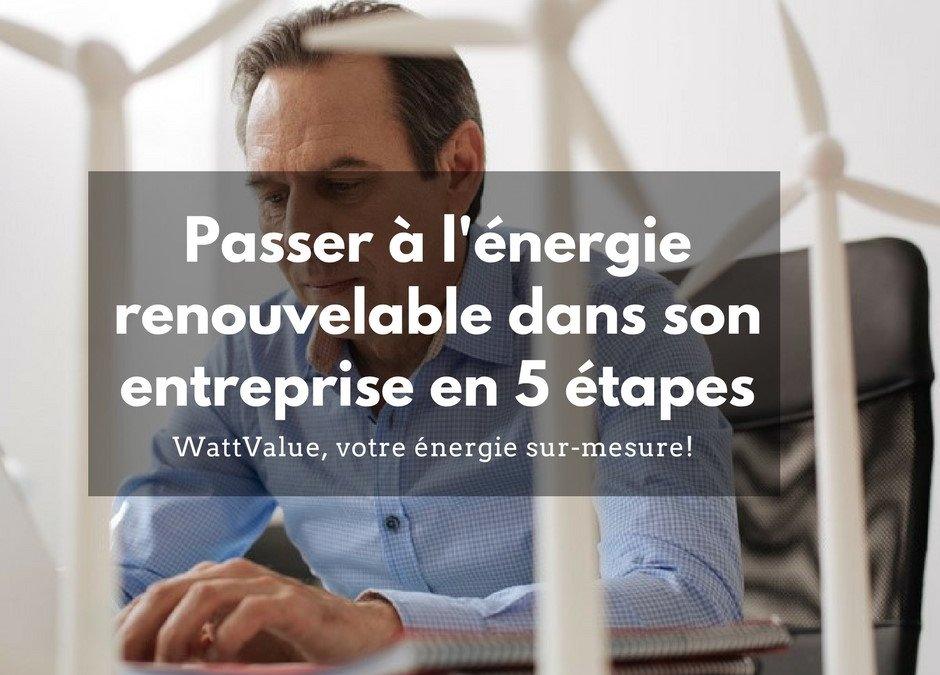 Passer à l'énergie renouvelable dans votre entreprise en 5 étapes
