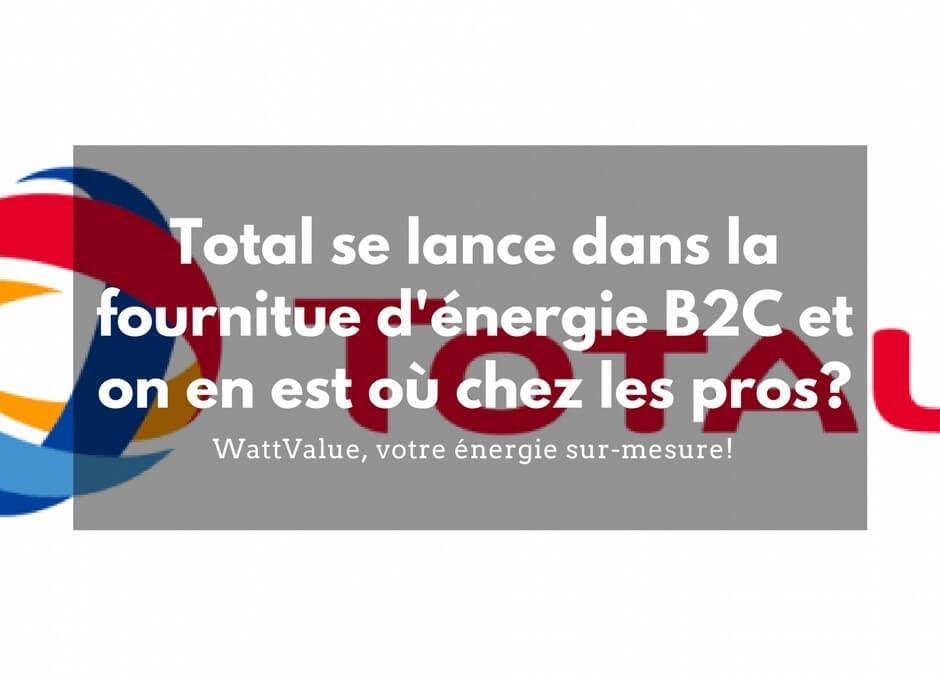 Total se lance dans la fourniture d'énergie pour les particuliers et où en sommes-nous sur le marché des professionnels ?