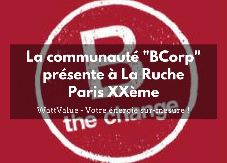La Communauté BCorp présente à La Ruche Paris XXème