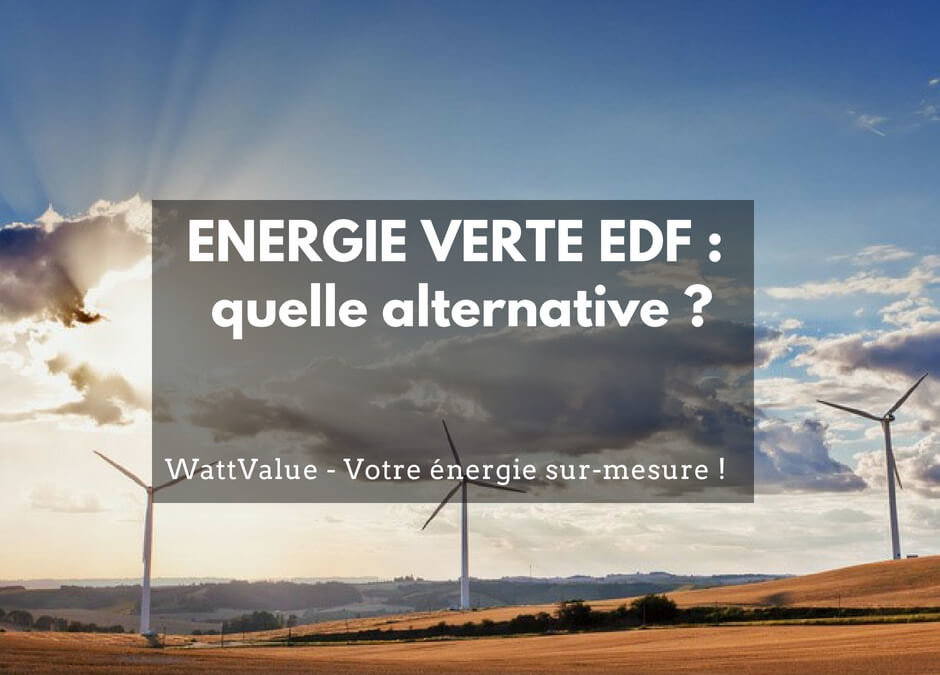 ENERGIE VERTE EDF : quelle alternative ?