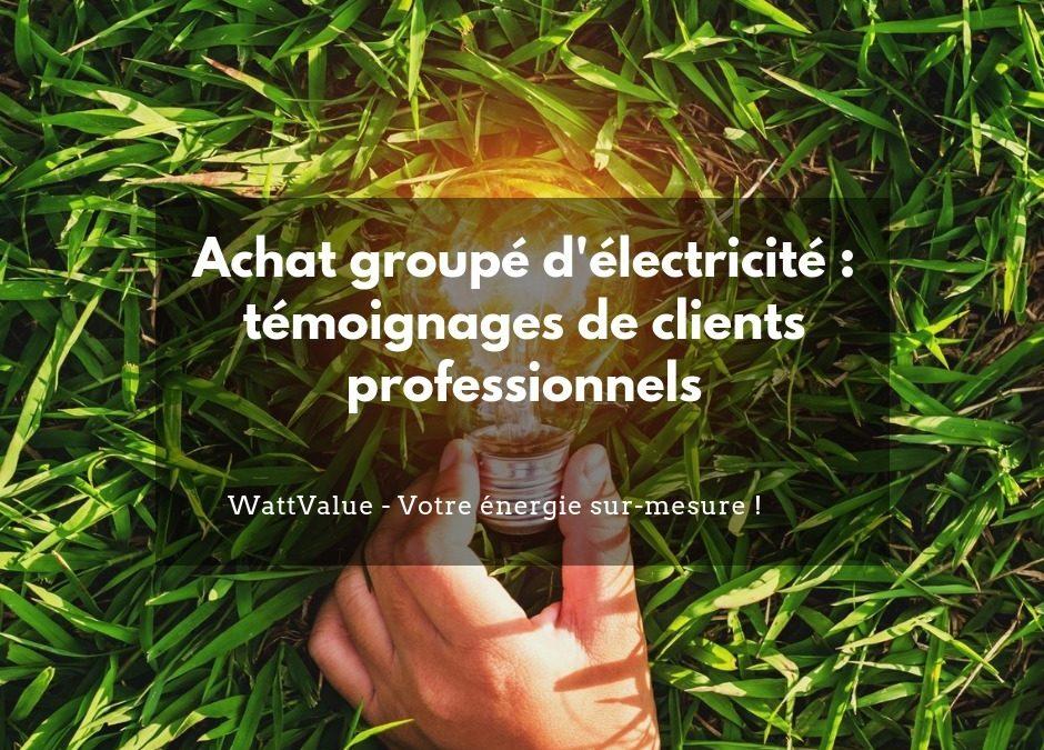 Achat groupé d'électricité : témoignages de clients professionnels