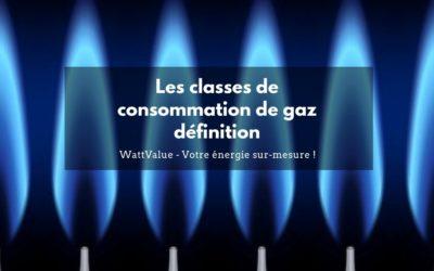 Classes de consommation de gaz définition