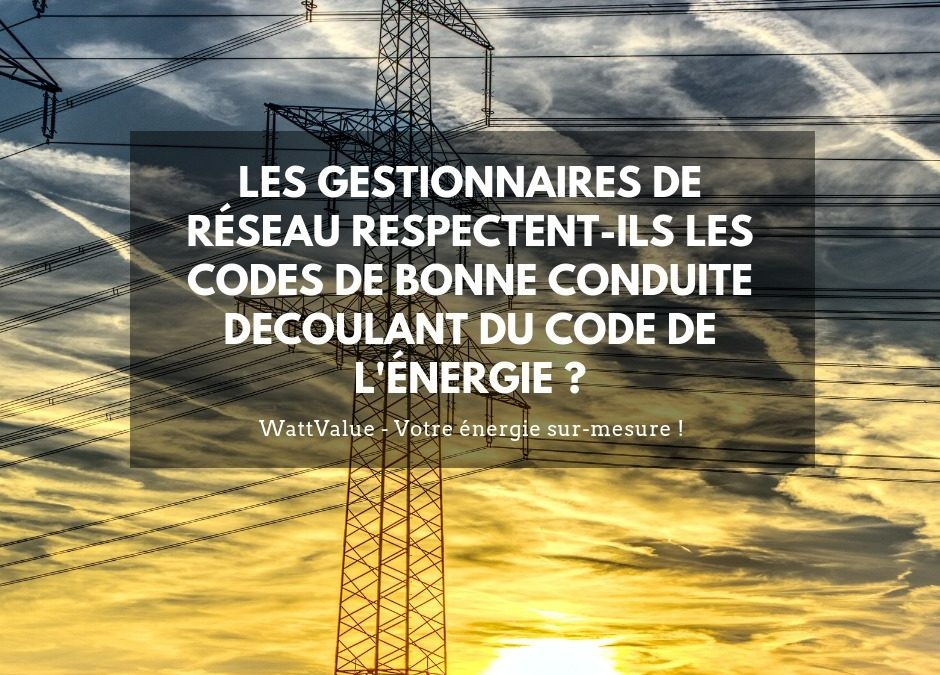 Les gestionnaires de réseau respectent-ils les codes de bonne conduite découlant du Code de l'Énergie ?