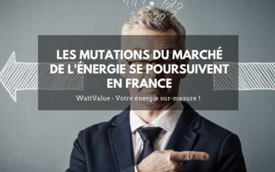 Les mutations du marché de l'énergie se poursuivent en France