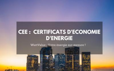 CEE :  Certificats d'Economie d'Energie