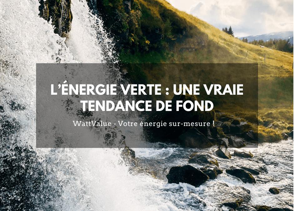 L'ÉNERGIE VERTE : UNE VRAIE TENDANCE DE FOND