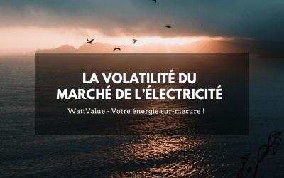 La volatilité du marché de l'électricité