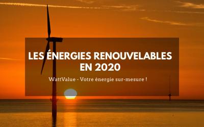 Les énergies renouvelables en 2020