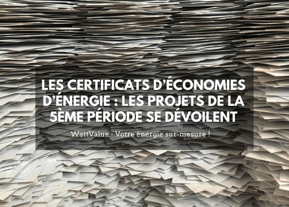Les Certificats d'Économies d'Énergie : les projets de la 5ème période se dévoilent