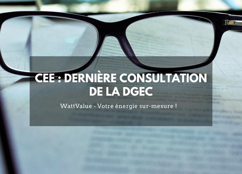 CEE : dernière consultation de la DGEC