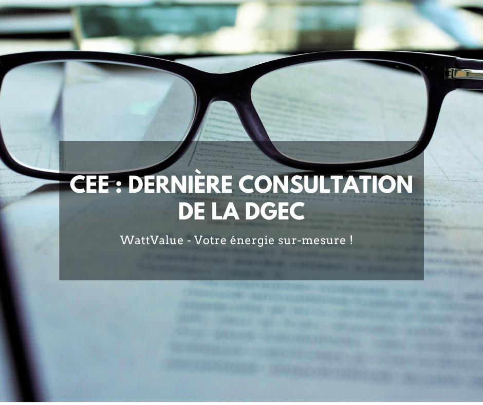 image - CEE : dernière consultation de la DGEC