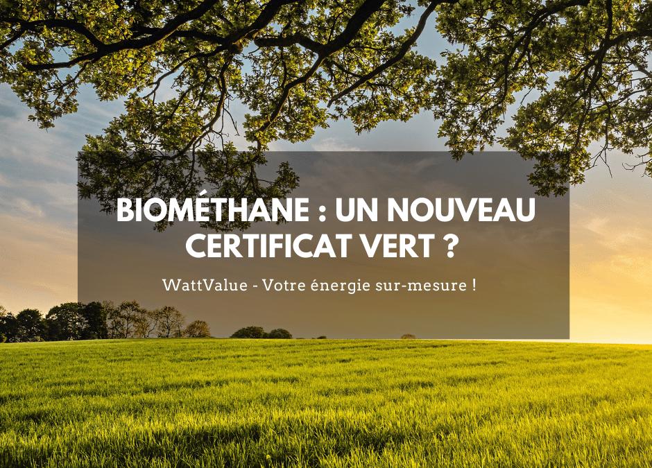 Biométhane : un nouveau certificat vert ?
